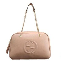 Gucci Women Fashion Leather Shoulder Bag F