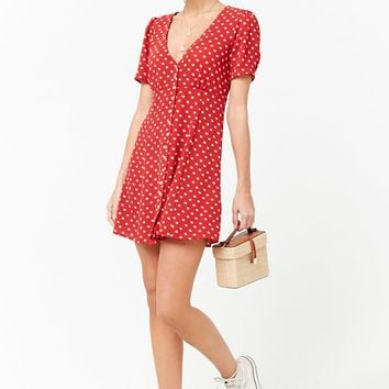 Crepe Floral Swing Dress