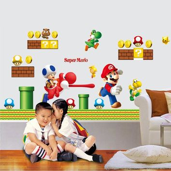 Super Mario party nes switch cartoon game wall decals for bedroom nursery  wall art decor adesivos 157db125d9