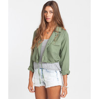 Billabong Women's Moonlit Nights Cropped Jacket | Seagrass | Sale