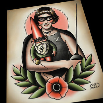 Amelie Tattoo Flash