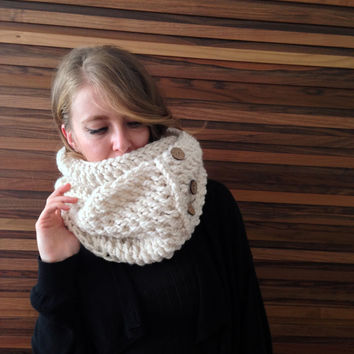 Knitting Pattern For Ladies Hood : Best Chunky Infinity Scarf Beige Products on Wanelo