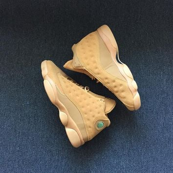 Best Deal Online Nike Air Jordan Retro 13 Wheat Golden Harvest/Elemental Gold Men Sneakers Sports Shoes