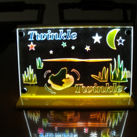 LED lighted large night light art light Multicolor Twinkle Twinkle