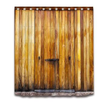 Rustic Wooden Barn Door 3D Shower Curtain