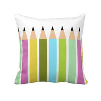 Multicolor Pillow Baby Room Pillow Pencil Pillow by PonkoWorld