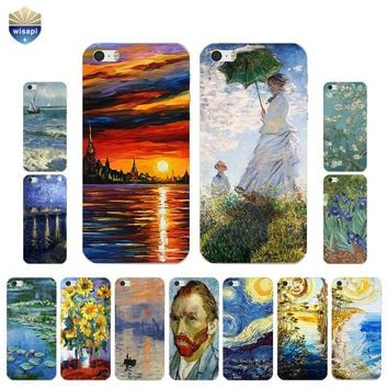 For iPhone SE Phone Case For iPhone 5G 5S Back Cover 4.0 Inch For iPhone 5C Shell Soft TPU Bumper Oil Painting Design Painted