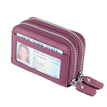 IDEAWIN RFID Blocking Accordion Card Wallet Compact Card Holder Gift Packing