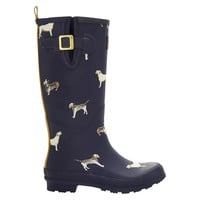 Joules Women's Rain Boots - Dogs & Navy : Target