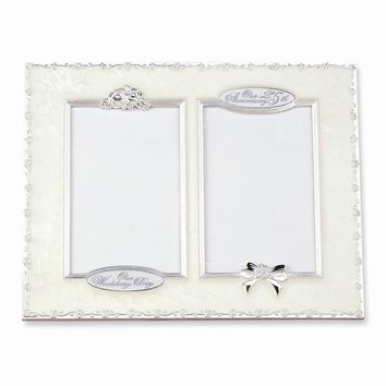 25th Anniversary Double Photo Frame