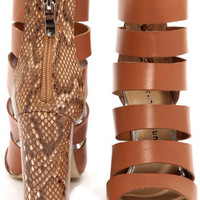 Chinese Laundry Bonafied Hazelnut Snake Print High Heel Sandals