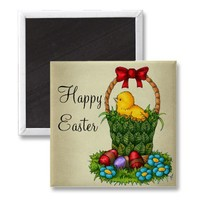 Cute Easter Chicken Refrigerator Magnets from Zazzle.com