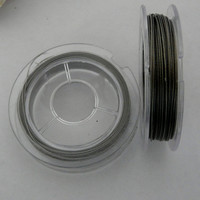 2 x 10m Rolls Silver Tiger Tail Beading Wire 0.38mm
