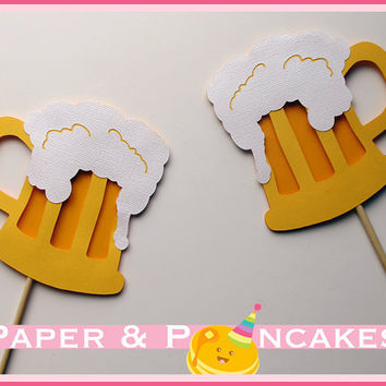 3D Photobooth Beer Mug Props / Butter Beer by PAPERandPANCAKES