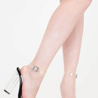 Clear As Day Chunky Lucite Heels