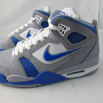 NEW MEN'S NIKE AIR FLIGHT FALCON 397204-040- STEALTH/ GAME ROYAL- WHITE- STEALTH