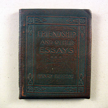 Vintage Miniature Book Friendship & Essays Thoreau 1920