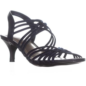 Impo Elenna Strappy Ankle Strap Sandals, Navy, 9 US