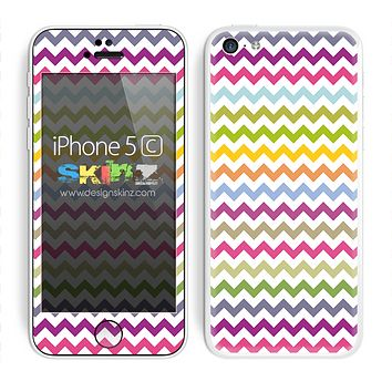 Colorful Chevron Pattern Skin For The iPhone 5c