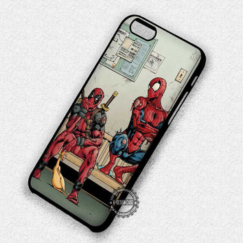 Funny Spiderman Deadpool - iPhone 7 6 5 SE Cases & Covers