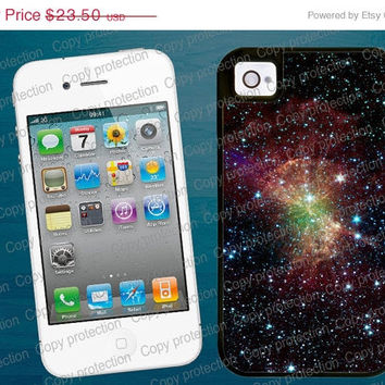 SALE Space Galaxy Nebula iPhone 4/4S 5 tough case - Heavy duty iPhone 4/5 hard case, 2 piece rubber lining case
