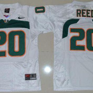 Nike  Jersey Youth Miami Hurricanes Ed Reed 20 College Ice Hockey Jerseys   S M L Xl