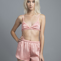 Dusty Pink Satin Bralet