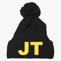 Justin Timberlake Embroidered Knit Pom Cap