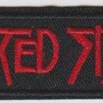Twisted Sister Iron-On Patch Red Letters Logo
