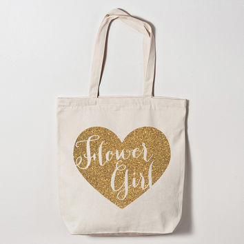 Flower Girl Heart Tote Bag