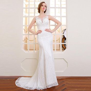lace fabric mermaid wedding dresses ball gown bridal dresses