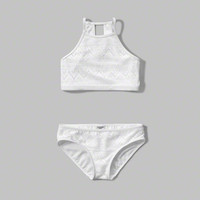 high neck two-piece swimsuit