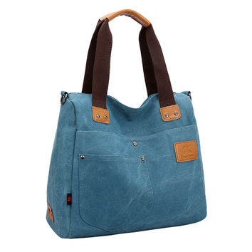 Designer Handbags Women Canvas Handbag Casual Shoulder Bag Large Capacity Vintage Crossbody Tote Retro Travel Bag SM6