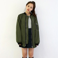 new women bomber jacket coat baseball loose long jacket coat female girls jaqueta feminina casaco feminino bomber jacket women