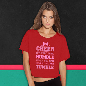If Cheerleading Was Easy boxy tee