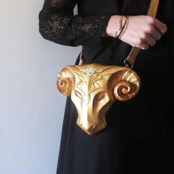 Gold purse / animal purse / metallic bag / geometric purse / Bohemian purse