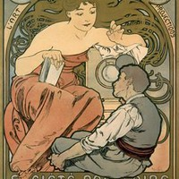 Magic Lantern Art Show Advertisement by Alphonse Mucha Fine Art Print