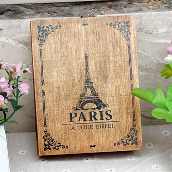 Vintage Paris Tower Cover old wooden box Home Office Sundries Storage Box desktop Decorative Craft Books box DIY Retro Wood box