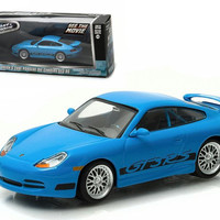 "Brian's 2001 Porsche 911 Carrera Gt3 RS Blue ""The Fast and The Furious Fast Five"" Movie (2011) 1-43 Diecast Model Car by Greenlight"