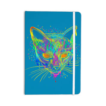 """Frederic Levy-Hadida """"Candy Cat Blue"""" Blue Rainbow Everything Notebook"""