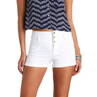 "REFUGE ""HI-WAIST SHORTIE"" HIGH-WAISTED SHORTS"