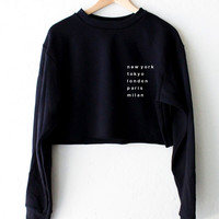 Cities Oversized Cropped Sweater
