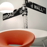 Vinyl Wall Decal Sticker Wall Street Sign #OS_AA561
