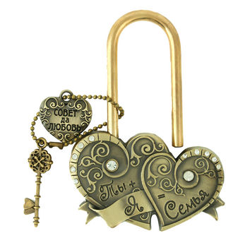 "Heart to heart. key to love memorial  locks charm crafts gifts. ceremony decoration,lock bridge.""You + my castle wedding = 7"""