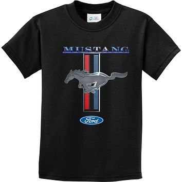 Buy Cool Shirts Kids Ford Mustang T-shirt Stripe Youth Tee