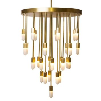 Emporium Home Quartz Falls Chandelier - Brass | New Lighting | What's New! | Candelabra, Inc.