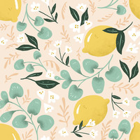 Lovely Lemons Removable Wallpaper