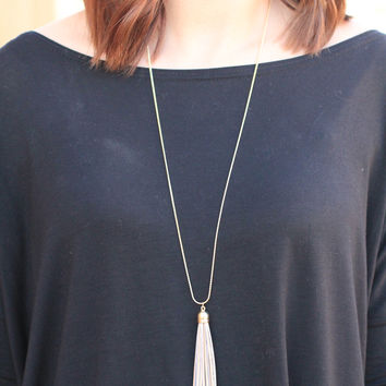 Back To Reality Tassel Necklace