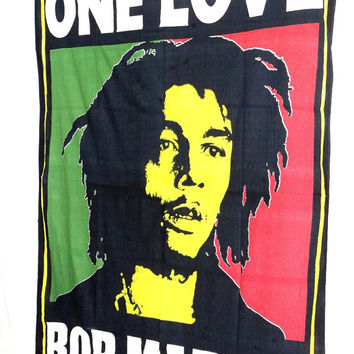 Bob Marley Tapestry Hippie Hippy Wall Hanging Tapestry Indian Tapestry Bedspread Bedcover Bohomian Decorative Art Indian Wall Hanging
