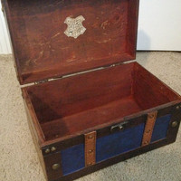 LARGE Ravenclaw Themed Harry Potter Inspired Steamer Trunk Keepsake Box, Storage Jewelry Stash Box, Hogwarts, Hermione, Snape, Wizard